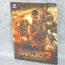 FAR CRY 2 Tactical Map Game Guide Booklet Japan Xbox360 Book Ltd