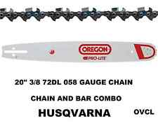 """GENUINE OREGON 20"""" CHAINSAW BAR AND CHAIN COMBO FOR HUSQVARNA 3/8 72DL .058"""