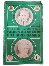 Official Rule and Record Book for all Pocket and Carom Billiard Games 1968