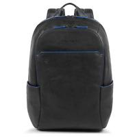 Piquadro Blue Square Zaino 1 scomparto porta pc 14 ipad pelle nero CA3214B2S N
