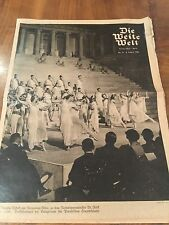 1936 GERMAN NEWSPAPER BERLIN XI OLYMPIC GAMES 2nd AUGUST
