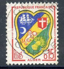 STAMP / TIMBRE FRANCE OBLITERE N° 1232 ALGER / BLASON