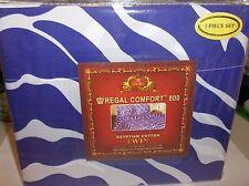 Zebra-Purple & White-Twin Size 3 Pc Regal Sheet Set,800 TC Deep Pocket>Free 2 US