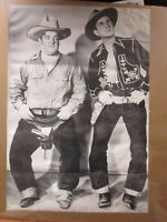 Vintage Black and White trimmed Poster  Abbott & Costello  Large 1970's Inv#1000