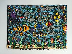 "RIZZI: original 3D ""SOMETHING FISHY GOING ON"", handsigniert, 1995 - VERGRIFFEN"