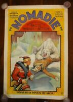 """1931 """"Nomadie"""" Original One Sheet Movie Poster, Outstanding Color And Graphics."""