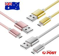 Premium Quality Braided Universal Micro USB Data Sync Charger Cable Cord 3M 2M