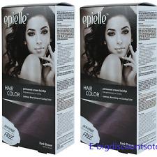 2 Packs Dark Brown Hair Color for Women Epielle Permanent Hair Dye Ammonia-Free