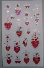 RED SILVER Stickers VALENTINE WEDDING 25TH ANNIVERSARY Mrs Grossman LOVE YOU