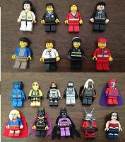 3ZB Lego and Custom mini figures Marvel Super Heroes Super girl Xmen Gambit dead