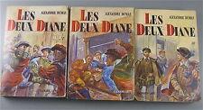 LES DEUX DIANE  ,  EN 3 TOMES SÉRIE DE 3 LIVRES , COLLECTION ALEXANDRE DUMAS