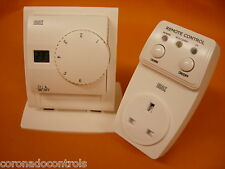 Celect Dial Setting RF 433MHz Wireless Room Thermostat with Plug In Rec + Stand