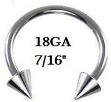 "18g~7/16"" 11mm  Horseshoe Lip,Nipple,Earring,Septum"