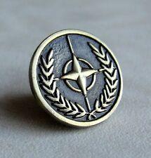 NATO / OTAN Forces Army Golden Lapel Pin Badge