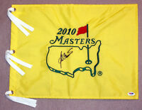 Ben Crenshaw SIGNED 2010 Masters Golf Pin Flag PSA/DNA AUTOGRAPHED
