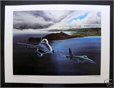 """F-16 Fighters """"Cope Elite Kanehoe"""", US Air Force Fine Arts Series 5 Print, 1982"""