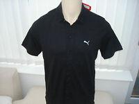 Puma Golf LTD Edition Funky 7 Button Gents Polo Shirt Black RRP £59.95