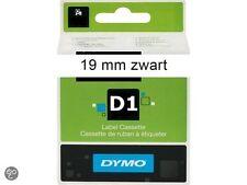 5 Cintas Dymo D1 19x7 negro sobre blanco 45803