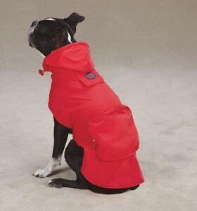 Dog Rain Coat Jacket Raincoat blue red pink Zack & Zoey Pet Stowaway