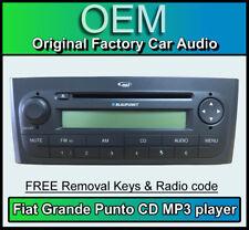 FIAT GRANDE PUNTO Lettore CD MP3, FIAT AUTO STEREO, Radio Chiavi Di Rimozione del codice, Nero
