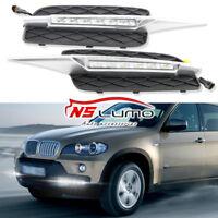 LED Stoßstange DRL Nebelscheinwerfer Seitenblinker Klar BMW E70 X5 07-09