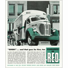 1947 Reo Trucks: Good and That Does for Reo Ice Cream Vintage Print Ad