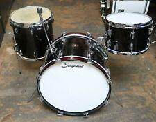 Slingerland 3pc Drum Set Vintage 1960's Black Sparkle