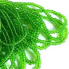 """Transp Light Green 6/0 Czech Seed Beads, 4mm Preciosa Green Seed Beads, 3/20"""""""