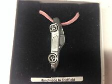 Porsche 911 (Type 996) ref195 Car Emblem On A Pink Cord Necklace Handmade 41CM