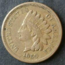 1859 1c Indian Head Cent