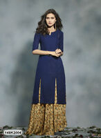 New Collection Indian Bollywood Navy Blue Cotton Kurti for Beautiful Ladies