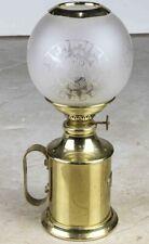 E.S Sorensen Kobenhavn Denmark Brass Oil Lamp With Glass Globe #9339 Scantime