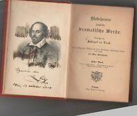 Shakespeares sämtliche Dramatische Werke 255 S. Wien 1904 Widmung  Leipzig