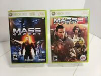 Mass Effect 1 and 2 Video Games for Xbox 360 Complete (Tested)