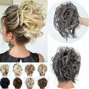 Large Thick Messy Curly Bun Hair Pieces Scrunchies Natural Hair Extension AU