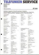 Telefunken Service Manual für RT 200