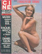 ▬►CINE REVUE 31 (1972) RAQUEL WELCH_BRIGITTE BARDOT_MARILYN MONROE_CASTELNUOVO