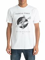 QUIKSILVER MENS T SHIRT.WHITE SPACE COWBOY COTTON SHORT SLEEVED TOP 7S/4308/WBBO