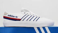 NIB ADIDAS Men's Delpala White Red Blue Canvas Low Top Sneakers Tennis Shoes