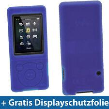 Blau Silikon Tasche Hülle für Sony Walkman NWZ-E473 NWZ-E474 NWZ-E473K NWZ-E474B