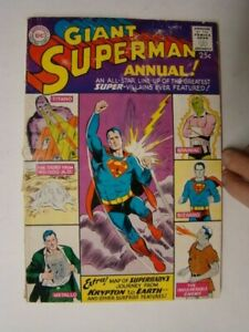 1960 Superman Annual #2 Super Villain Issue Brainiac & Bizarro Cover GD