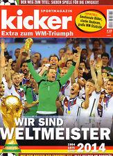 Kicker Extra zum WM-Triumph - WM 2014 - German FIFA World Cup Souvenir Magazine