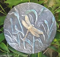 Dragonfly plaque mold garden casting plaster concrete mould