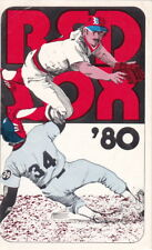 1980 Boston Red Sox Baseball Pocket Schedule - Maine National Bank