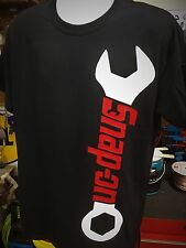 SNAP ON Tools Wrench Vertical Mechanic Garage T Shirt Black Large