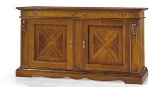 Cupboard 1487 With 2 Doors 2 Drawers With Leaf Inlaid Finished Bassano