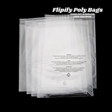 Poly Bags Suffocation Warning Clear 15 Mil Merchandise Apparel For Amazon