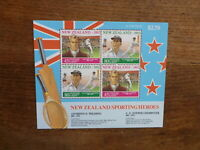 NEW ZEALAND HEALTH STAMPS 1992 SPORTING HEROES 4 STAMP MINI SHEET MNH