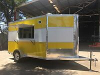 NEW CONCESSION FOOD BBQ TRAILER 12' X 7' EQUIPPED