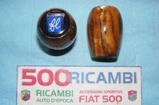 FIAT 500 F/L/R 126 POMELLO LEVA CAMBIO RADICA DI LEGNO + LOGO FRANCIS LOMBARDI